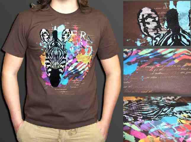 печать на футболках красками