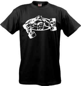 черная футболка с фото