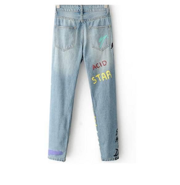 печать на джинсах