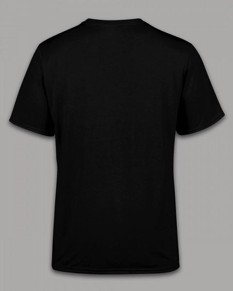 Черные женские и мужские футболки с надписями